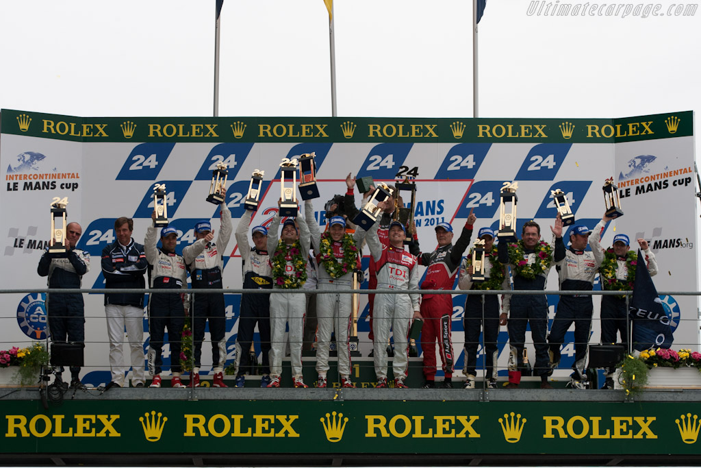 The podium    - 2011 24 Hours of Le Mans