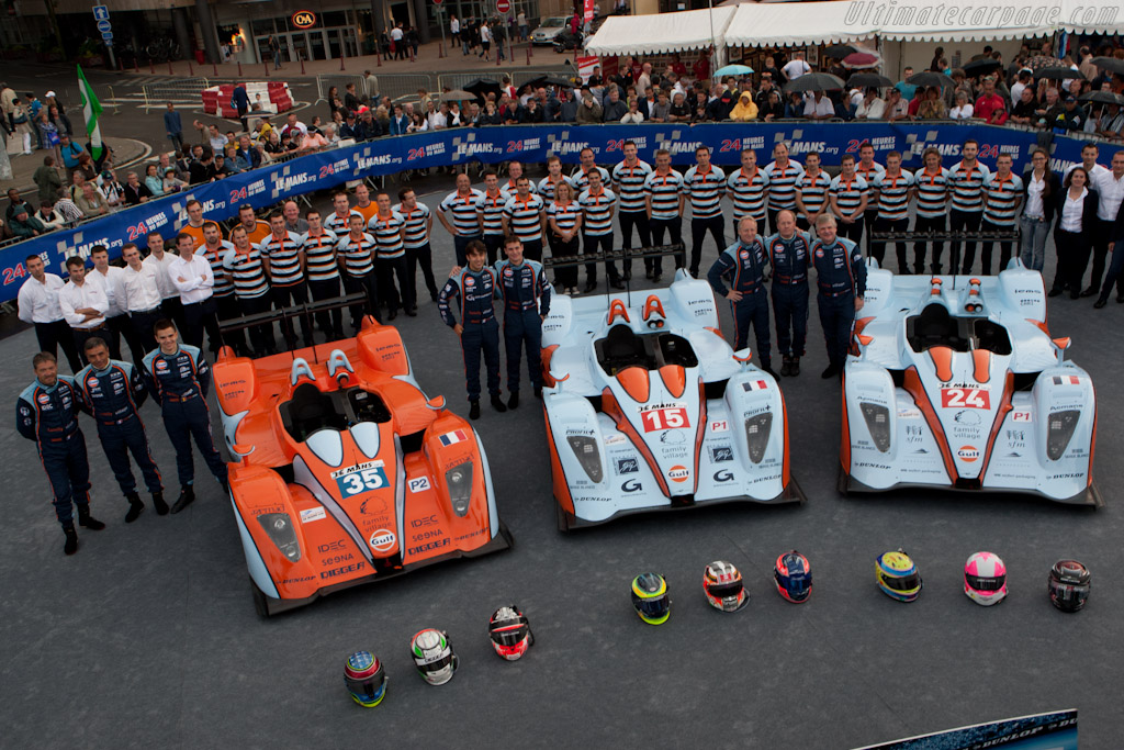 Three of the four Oak Racing entries - Chassis: 01-06   - 2011 24 Hours of Le Mans