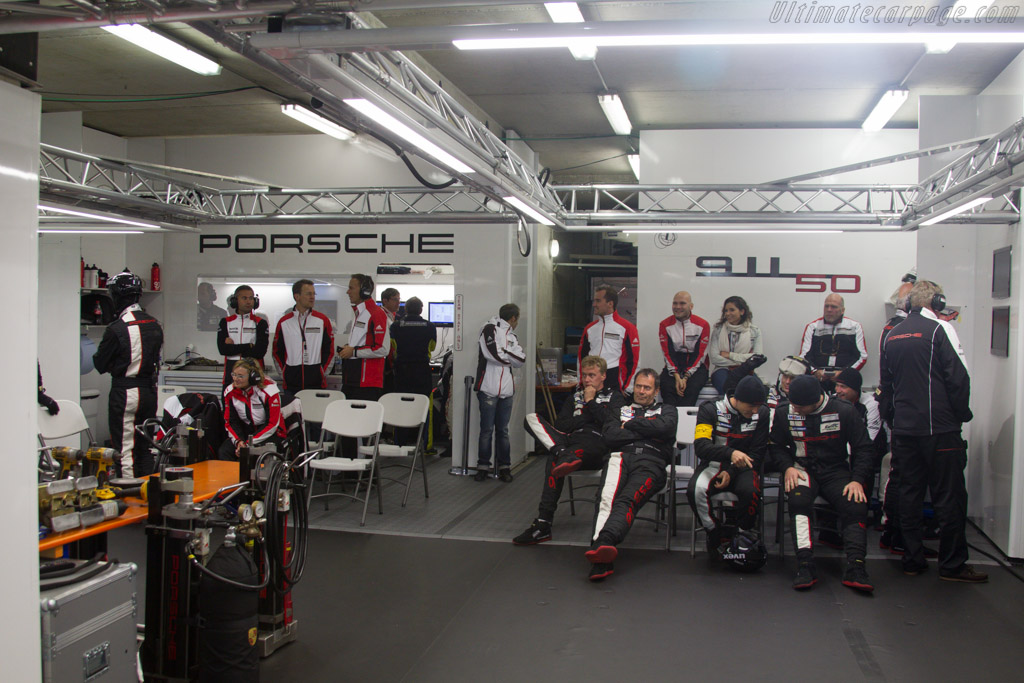 The Porsche works team    - 2013 24 Hours of Le Mans