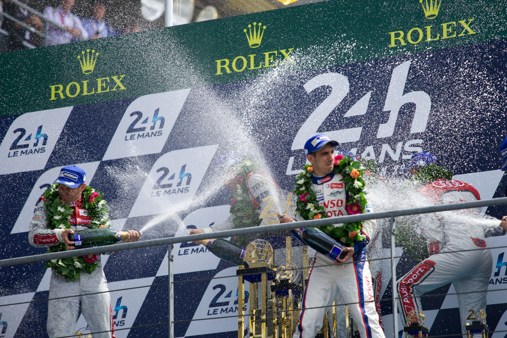 The podium    - 2014 24 Hours of Le Mans