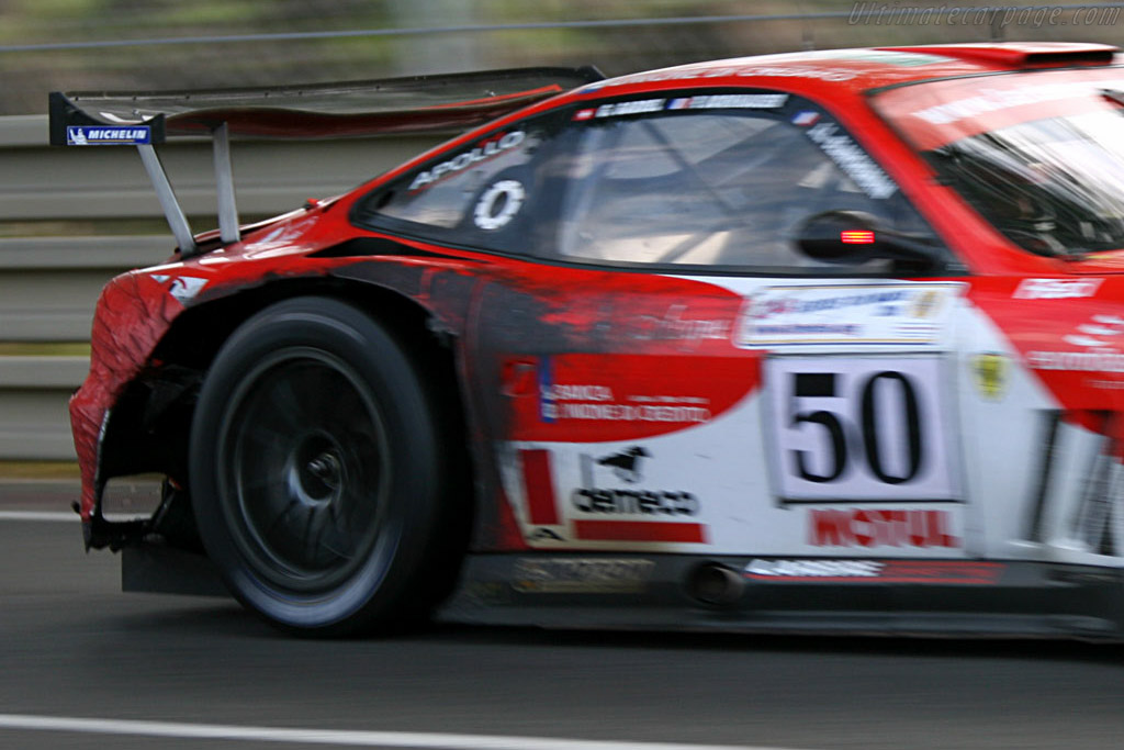 Another look at the battle damage - Chassis: 117110 - Entrant: Larbre Competition  - 2006 24 Hours of Le Mans