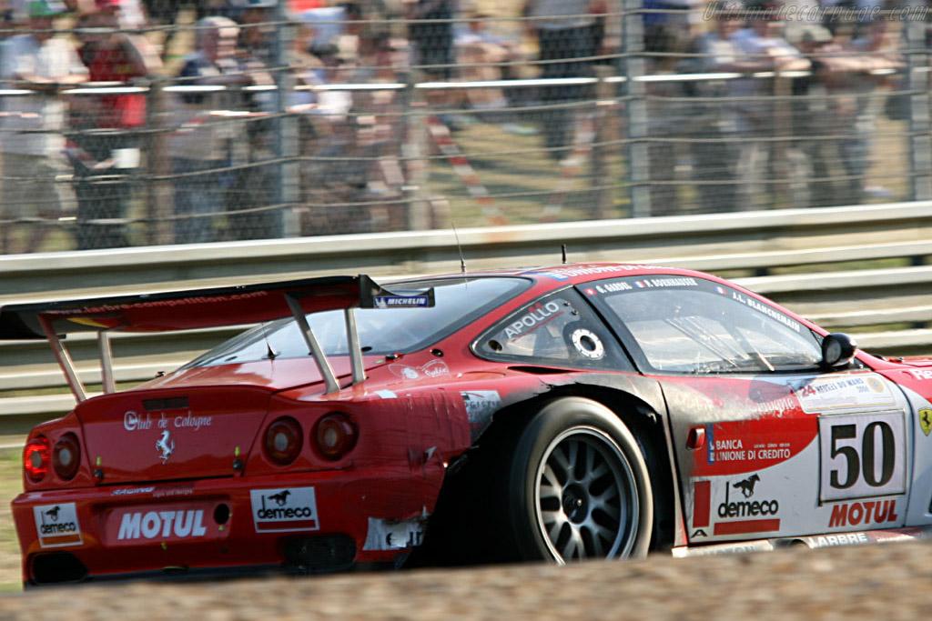 Battle damage - Chassis: 117110 - Entrant: Larbre Competition  - 2006 24 Hours of Le Mans