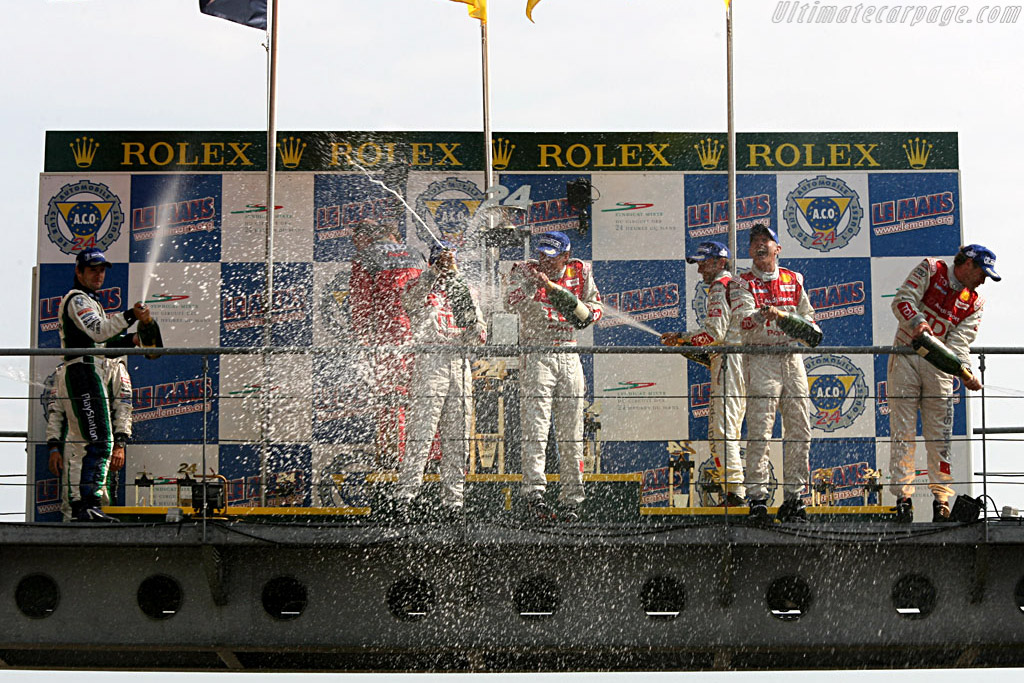 Champagne antics    - 2006 24 Hours of Le Mans