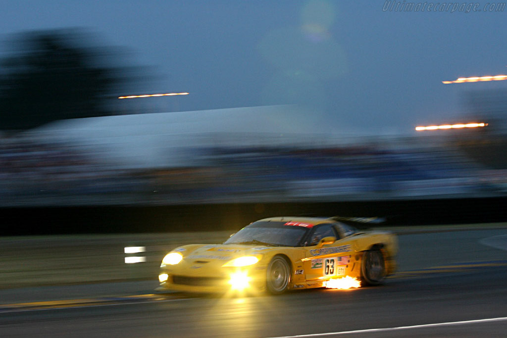 Fire in the hole - Chassis: 003 - Entrant: Corvette Racing  - 2006 24 Hours of Le Mans