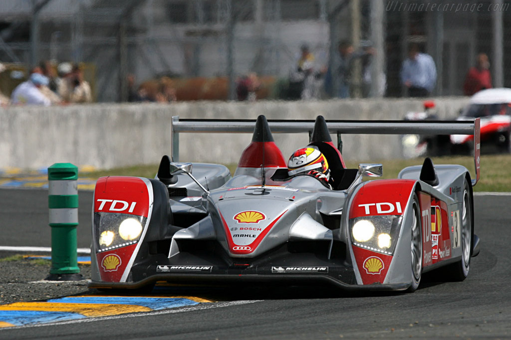 The #3 still in one piece - Chassis: 203 - Entrant: Audi Sport Team Joest  - 2007 24 Hours of Le Mans
