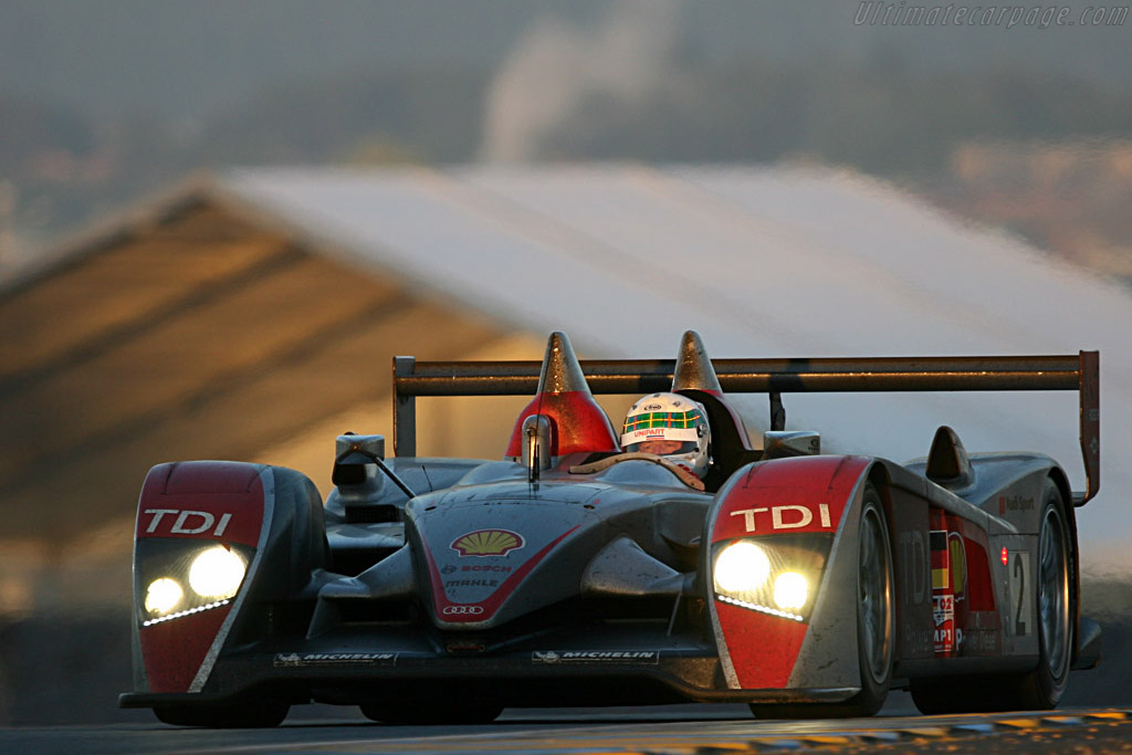 The end is near for the #2 - Chassis: 204 - Entrant: Audi Sport North America  - 2007 24 Hours of Le Mans