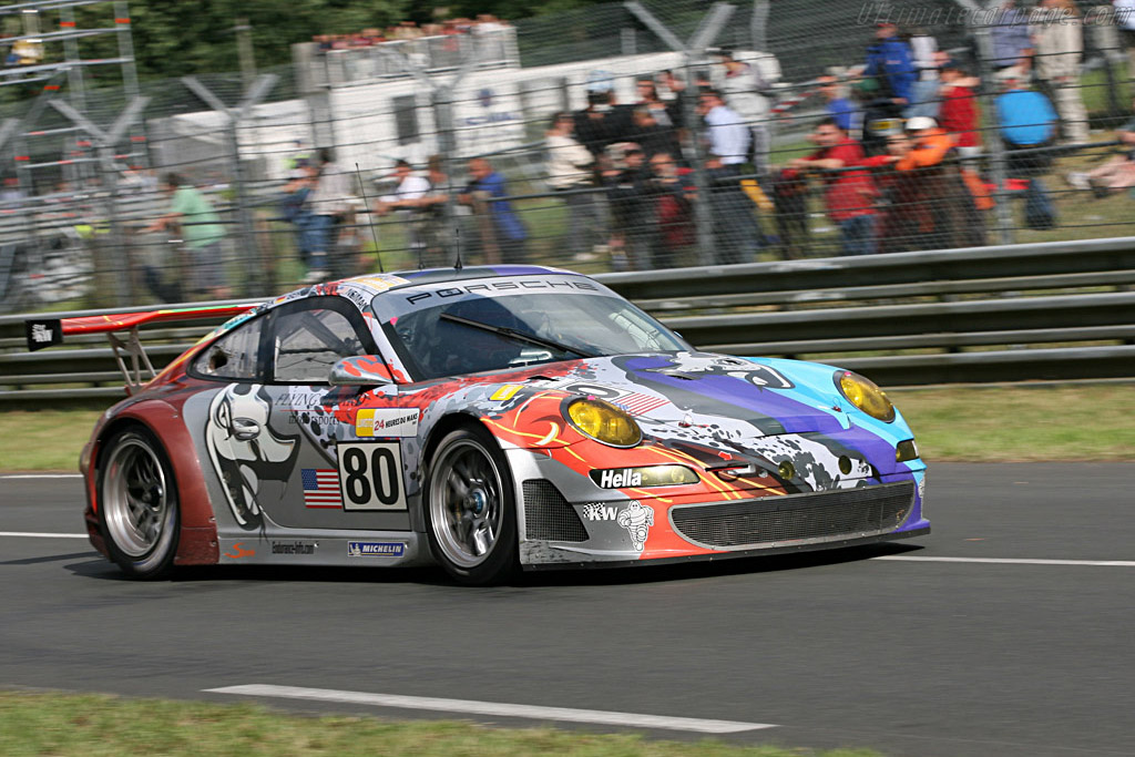 Troy Lee's Lizard - Chassis: WP0ZZZ99Z7S799913 - Entrant: Flying Lizard Motorsport  - 2007 24 Hours of Le Mans