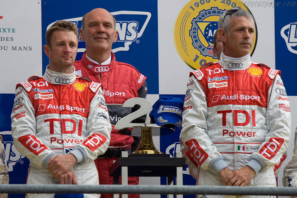 Allan McNish, Dr. Wolfgang Ulrich and Dindo Capello    - 2008 24 Hours of Le Mans