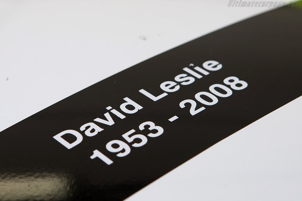 David Leslie remembered - Chassis: AMR1 / 05  - 2008 24 Hours of Le Mans