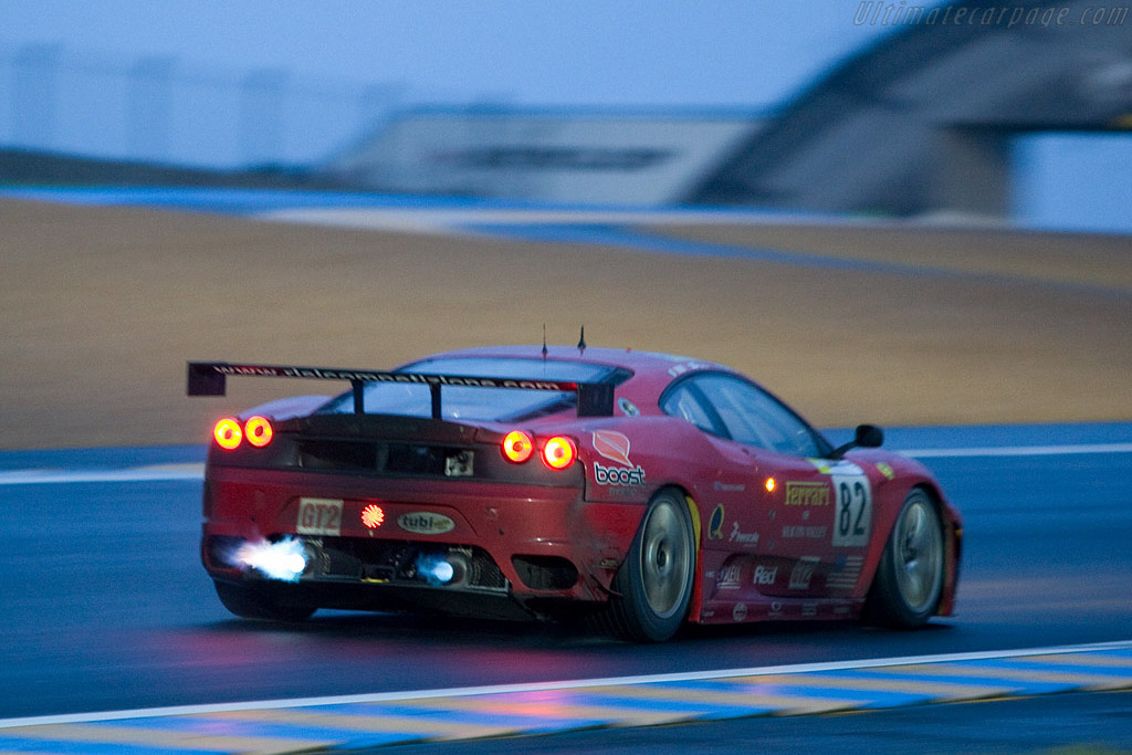 Fire in the hole - Chassis: 2606 - Entrant: Risi Competizione  - 2008 24 Hours of Le Mans