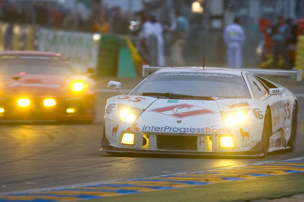 Le Mans light show - Chassis: LA01064 - Entrant: Interprogressbank Spartak Racing  - 2008 24 Hours of Le Mans