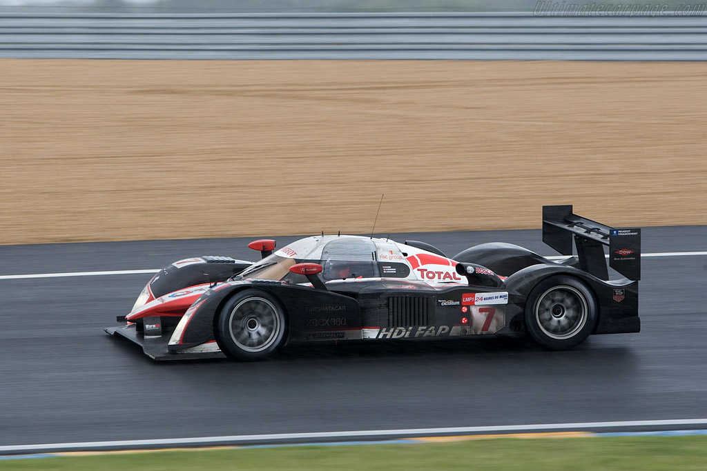 Minassian in the wet on slicks - Chassis: 908-05 - Entrant: Team Peugeot Total  - 2008 24 Hours of Le Mans