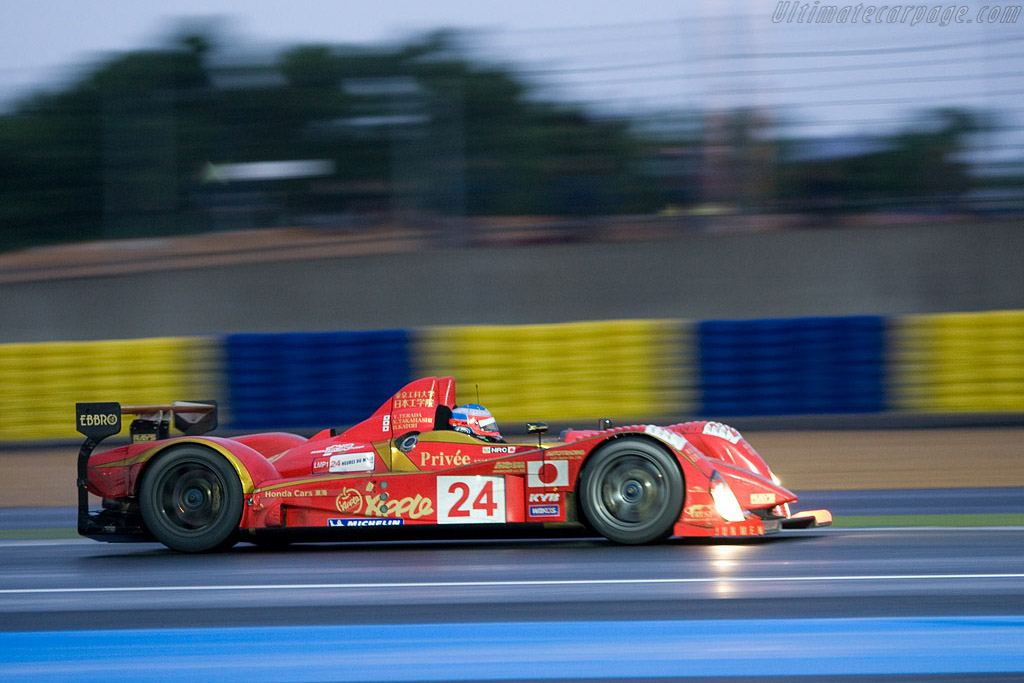 Mugen Courage in the spotlight - Chassis: LC70-05 - Entrant: Terramos  - 2008 24 Hours of Le Mans