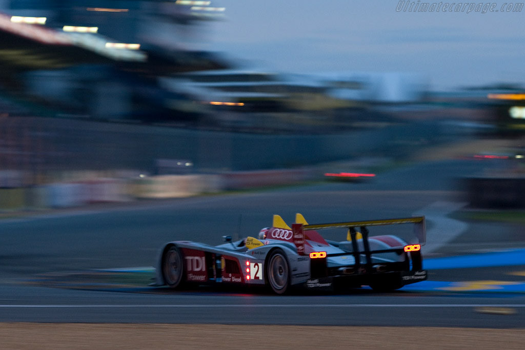 The winning Audi R10 - Chassis: 204 - Entrant: Audi Sport North America  - 2008 24 Hours of Le Mans