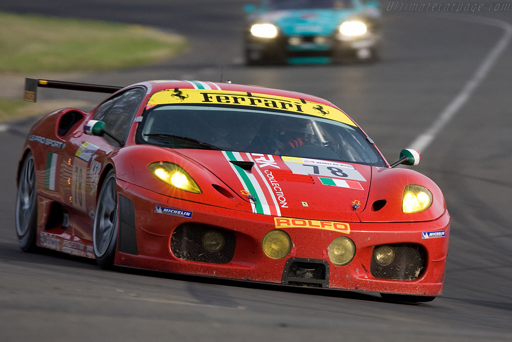 This corner is aptly named Indianapolis - Chassis: 2464b - Entrant: AF Corse  - 2008 24 Hours of Le Mans