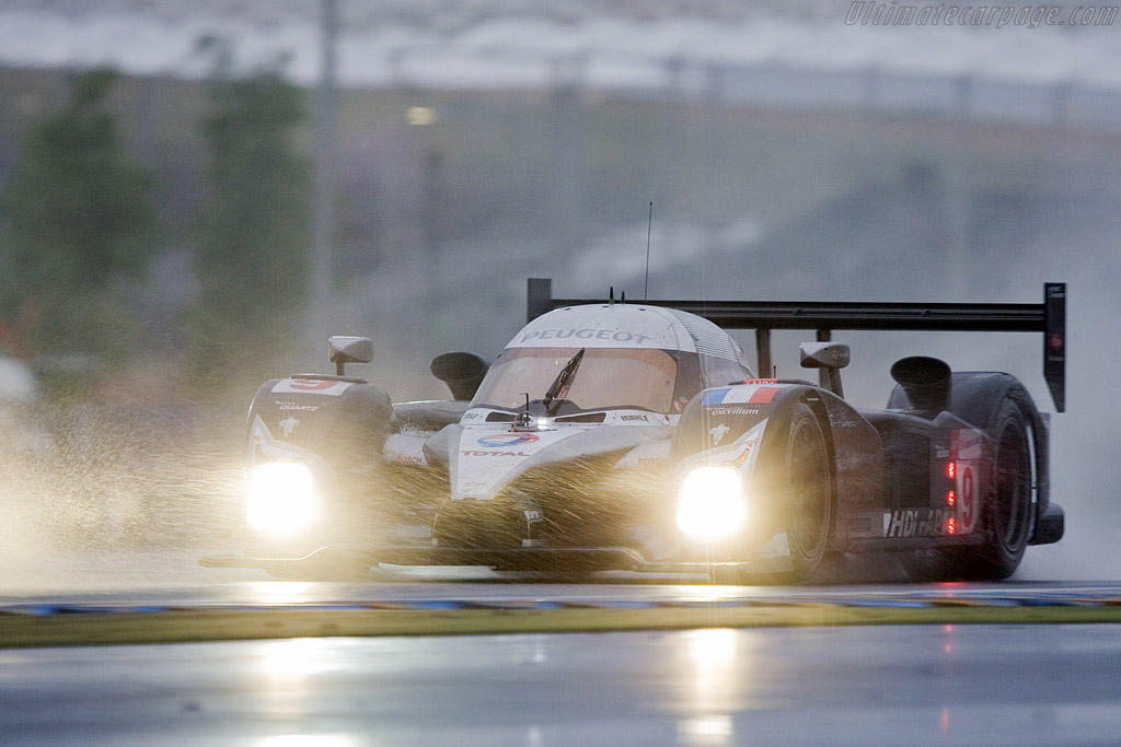 Water, lots of it - Chassis: 908-04 - Entrant: Peugeot Sport Total  - 2008 24 Hours of Le Mans