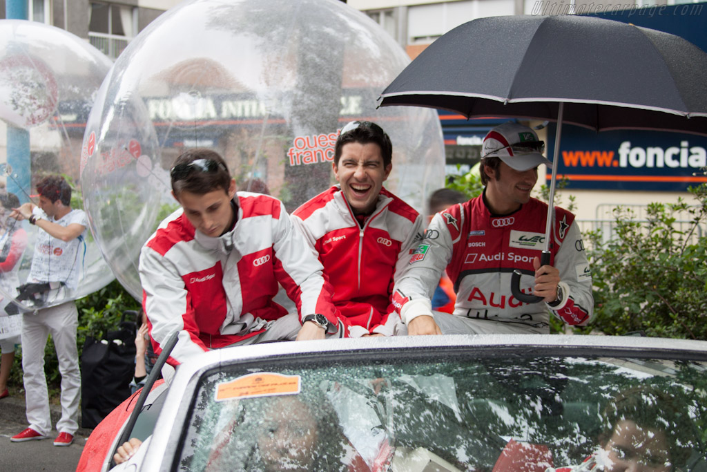 A laughing Mike Rockenfeller    - 2012 24 Hours of Le Mans