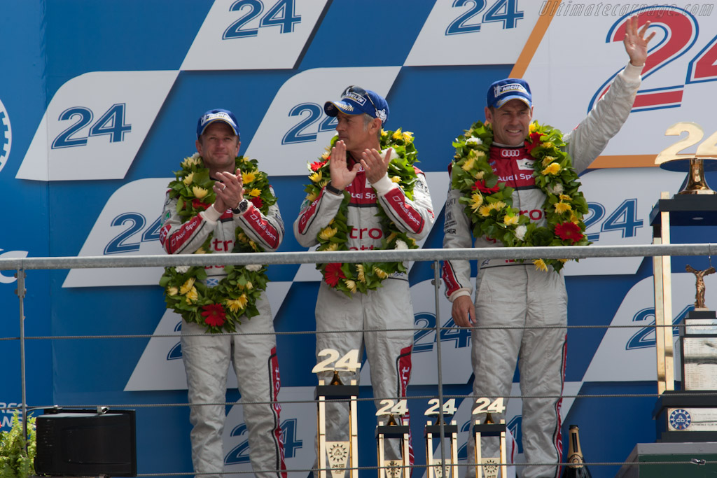The podium    - 2012 24 Hours of Le Mans