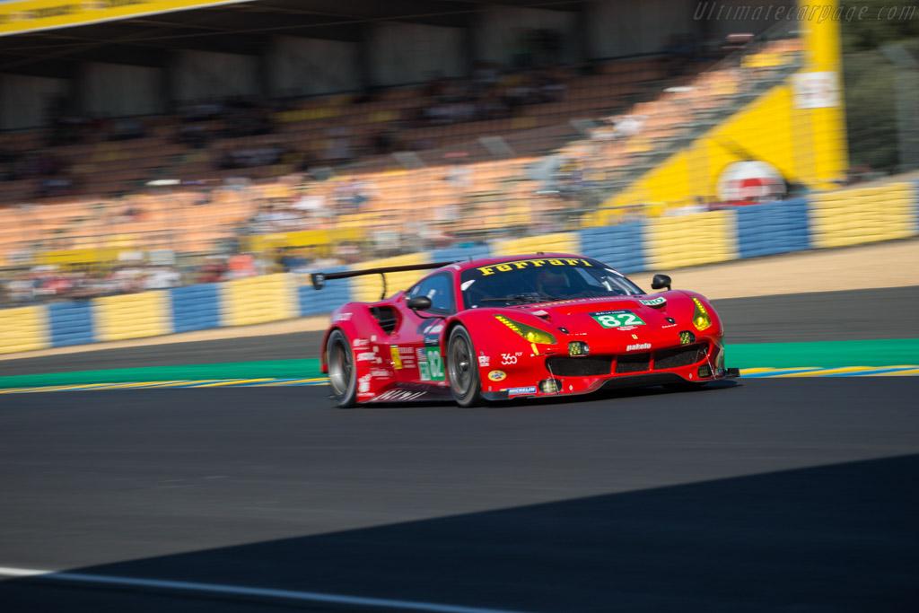 Ferrari 488 GTE  - Entrant: Risi Competizione - Driver: Toni Vilander / Giancarlo Fisichella / Pierre Kaffer  - 2017 24 Hours of Le Mans