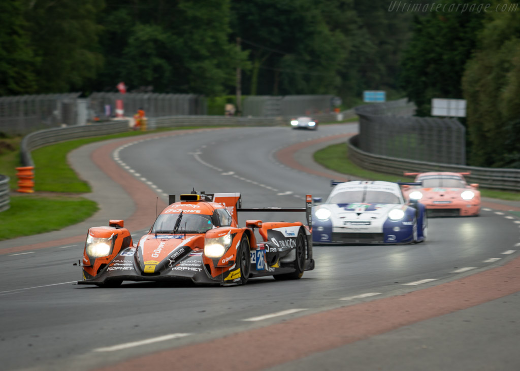 Oreca 07 Gibson  - Entrant: G-Drive Racing - Driver: Roman Rusinov / Andrea Pizzitola / Jean-Eric Vergne  - 2018 24 Hours of Le Mans