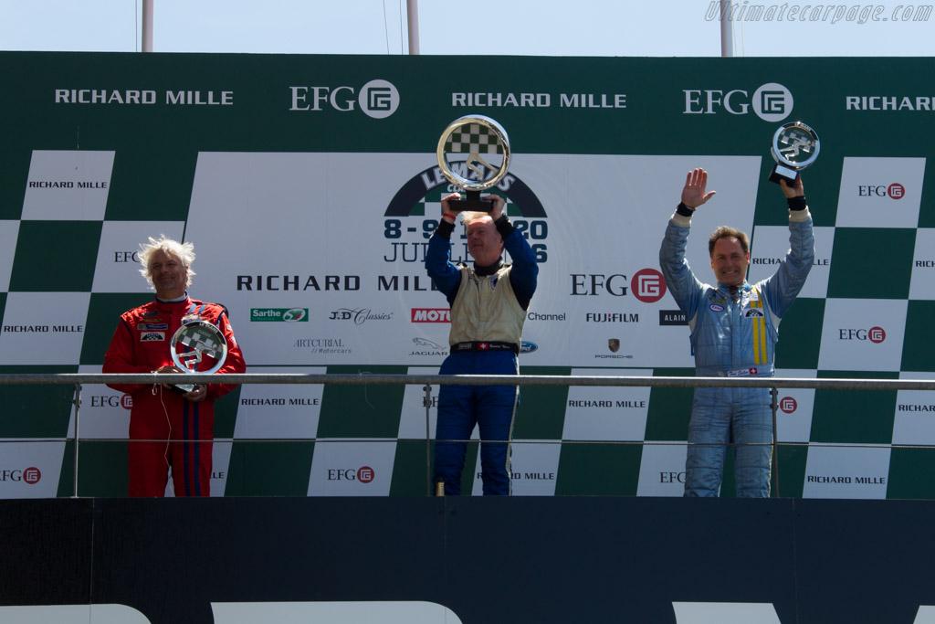 The podium    - 2016 Le Mans Classic