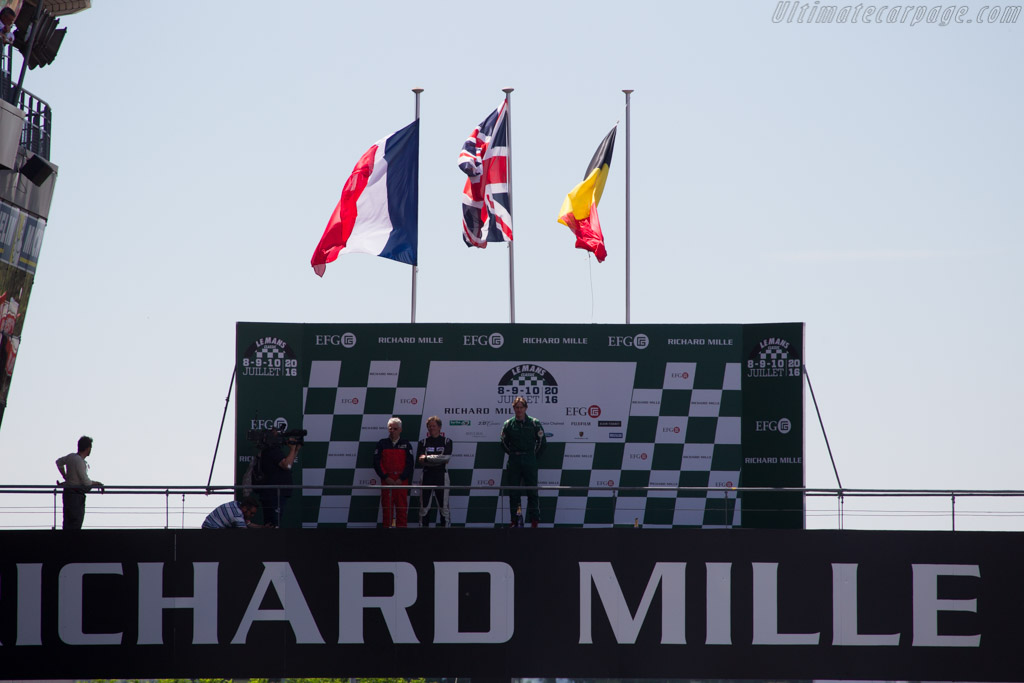 The podium    - 2016 Le Mans Classic
