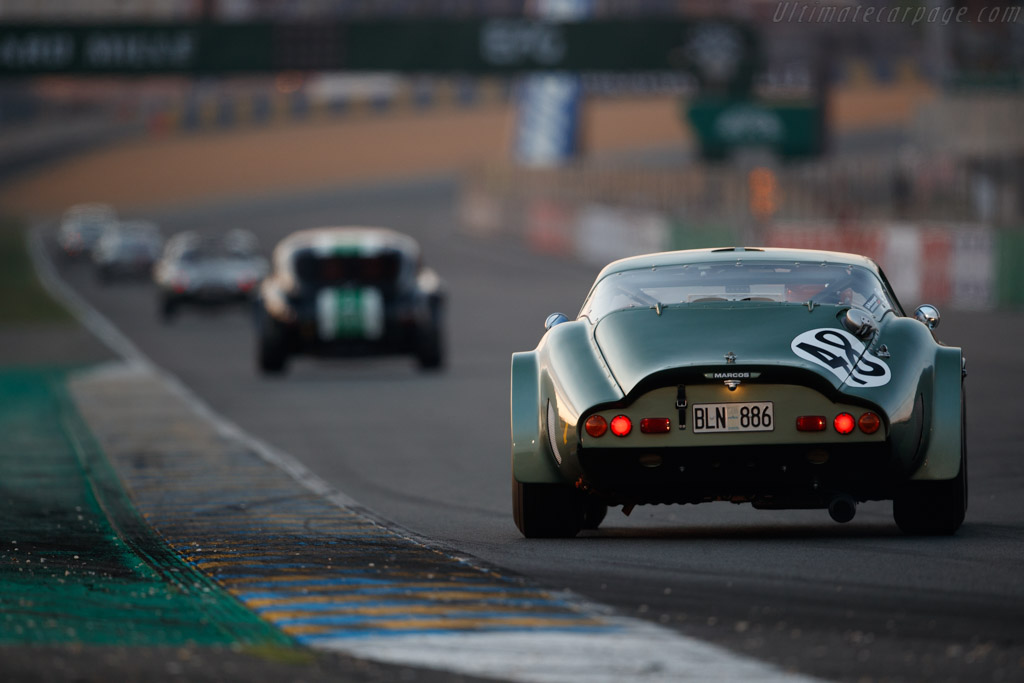 Marcos GT Volvo 1800 - Chassis: 4054 - Driver: Axel Lind / Chris Marsh / Robert Hamilton  - 2018 Le Mans Classic