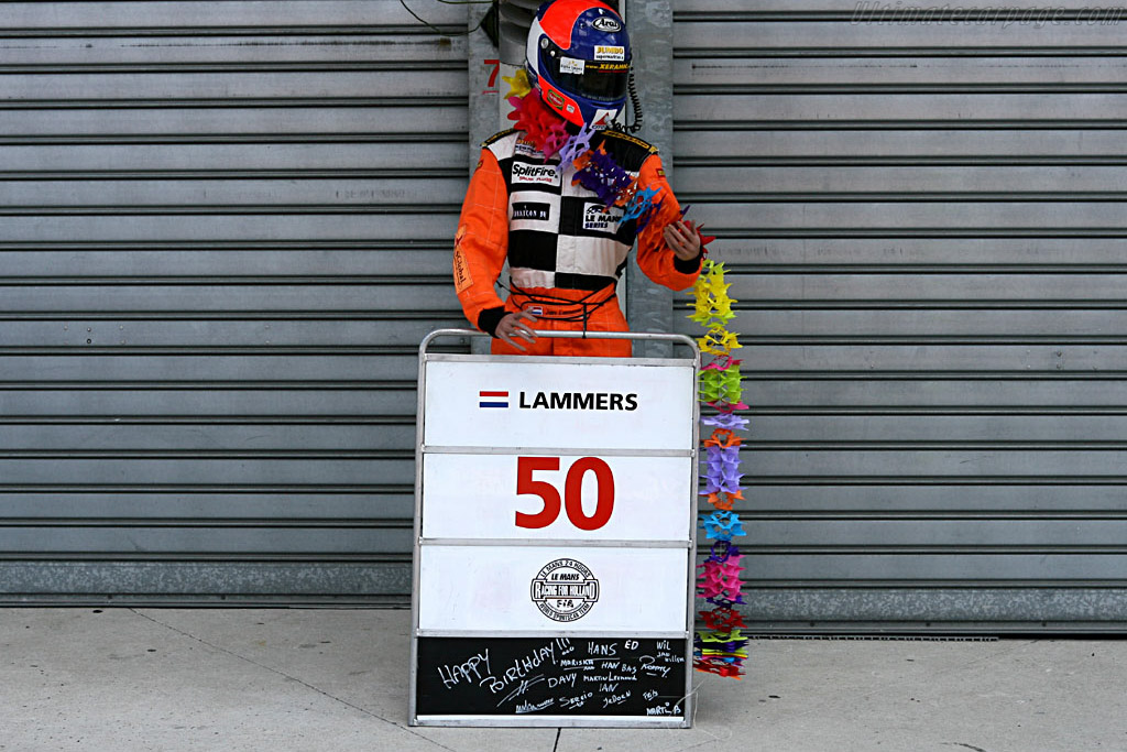 Birthday boy Jan Lammers    - 2006 24 Hours of Le Mans Preview