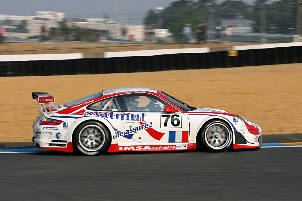 Porsche 997 GT3 RSR - Chassis: WP0ZZZ99Z7S799923 - Entrant: IMSA Performance Matmut  - 2007 24 Hours of Le Mans Preview