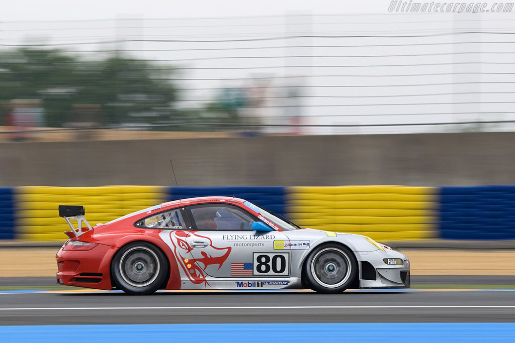 Porsche 997 GT3 RSR - Chassis: WP0ZZZ99Z8S79914 - Entrant: Flying Lizards Motorsport  - 2008 24 Hours of Le Mans Preview