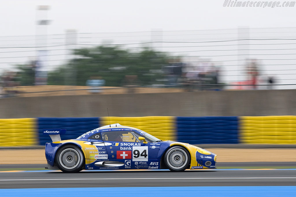 Spyker C8 Laviolette GT2R - Chassis: XL9AB01G57Z363191 - Entrant: Speedy Racing Team  - 2008 24 Hours of Le Mans Preview
