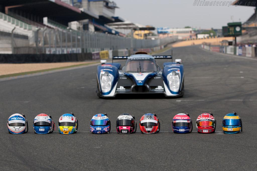 Peugeot helmets    - 2011 Le Mans Test
