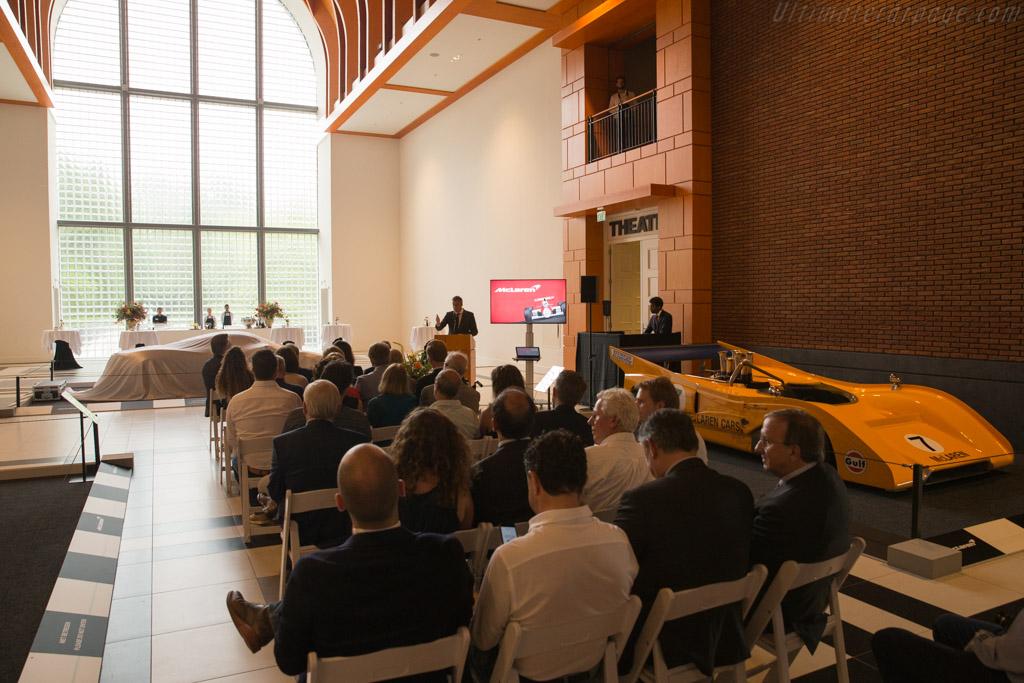 The opening ceremony    - McLaren at the Louwman Museum
