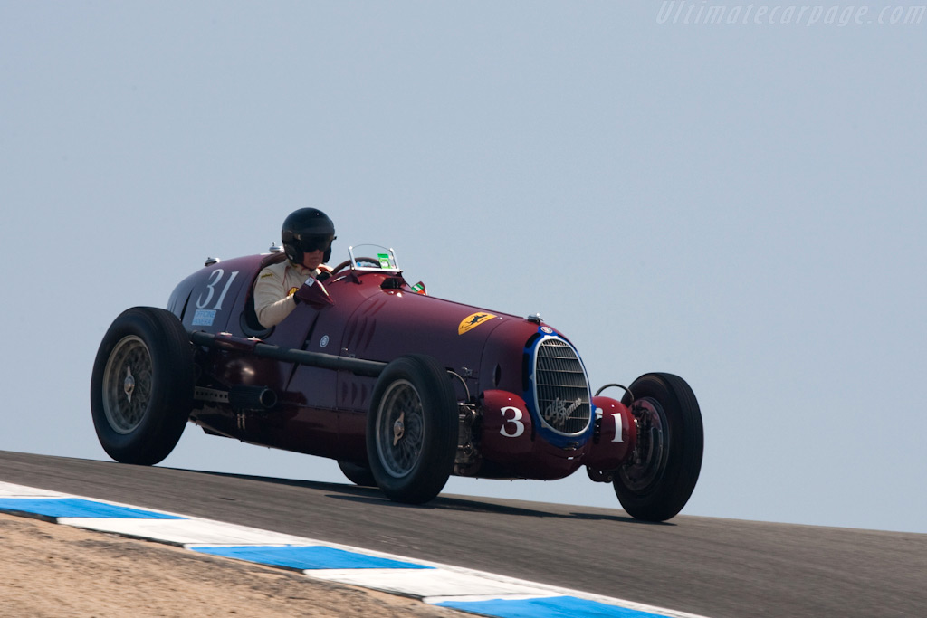 Alfa Romeo 8C 35 - Chassis: 50012 - Driver: Peter Giddings  - 2009 Monterey Historic Automobile Races