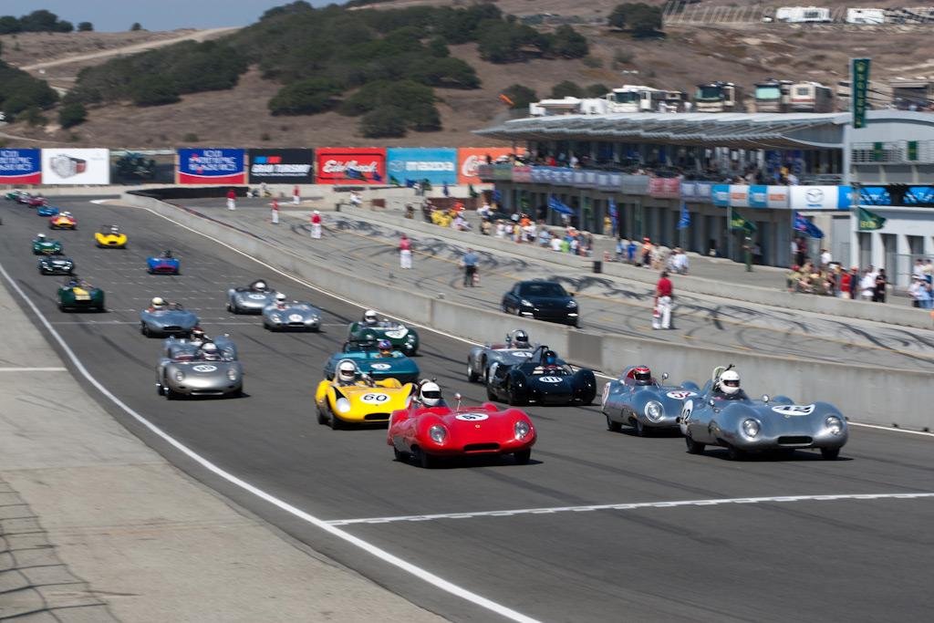 Off they go!    - 2009 Monterey Historic Automobile Races