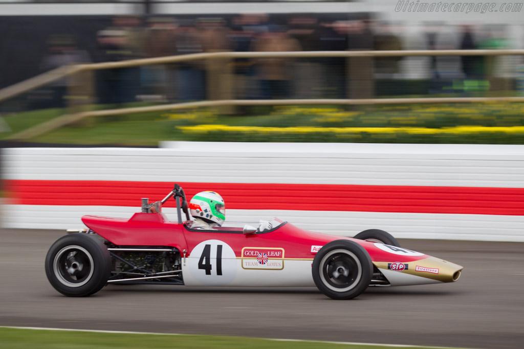 Lotus 41X Ford  - Driver: Enrico Spaggiari  - 2018 Goodwood Members' Meeting