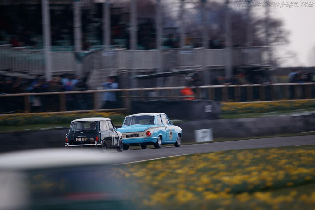 Lotus Cortina  - Driver: Mark Sumpter  - 2018 Goodwood Members' Meeting