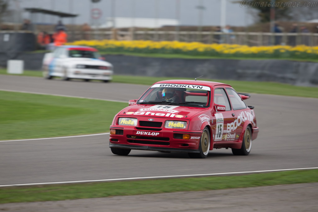 Ford Sierra Cosworth RS500  - Driver: Robb Gravett  - 2017 Goodwood Members' Meeting
