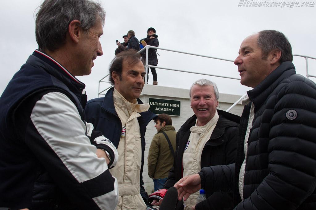 Roberto Ravaglia, Emanuele Pirro, Steve Soper and Gerhard Berger    - 2017 Goodwood Members' Meeting