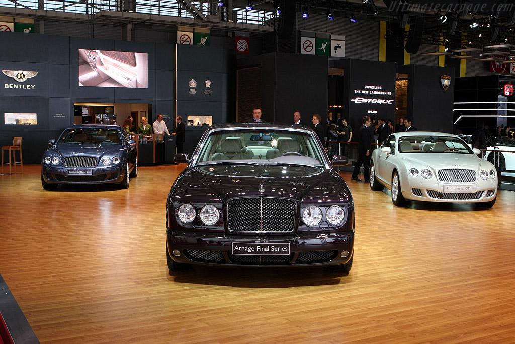 Bentley Arnage Final Series    - 2008 Mondial de l'Automobile Paris