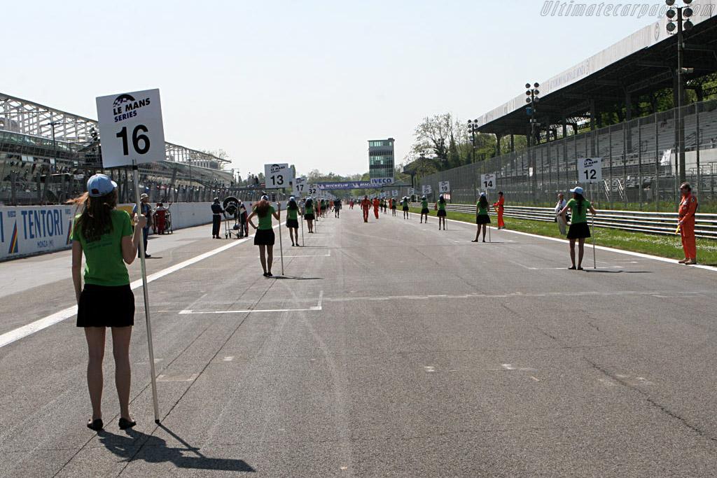 An empty grid    - 2007 Le Mans Series Monza 1000 km