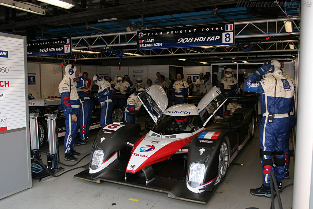 Still heavily guarded - Chassis: 908-03 - Entrant: Peugeot Sport Total  - 2007 Le Mans Series Monza 1000 km