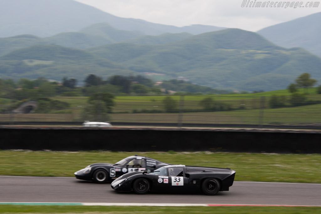 Lola T70 Mk3B  - Driver: Yvan Mahe  - 2014 Mugello Classic