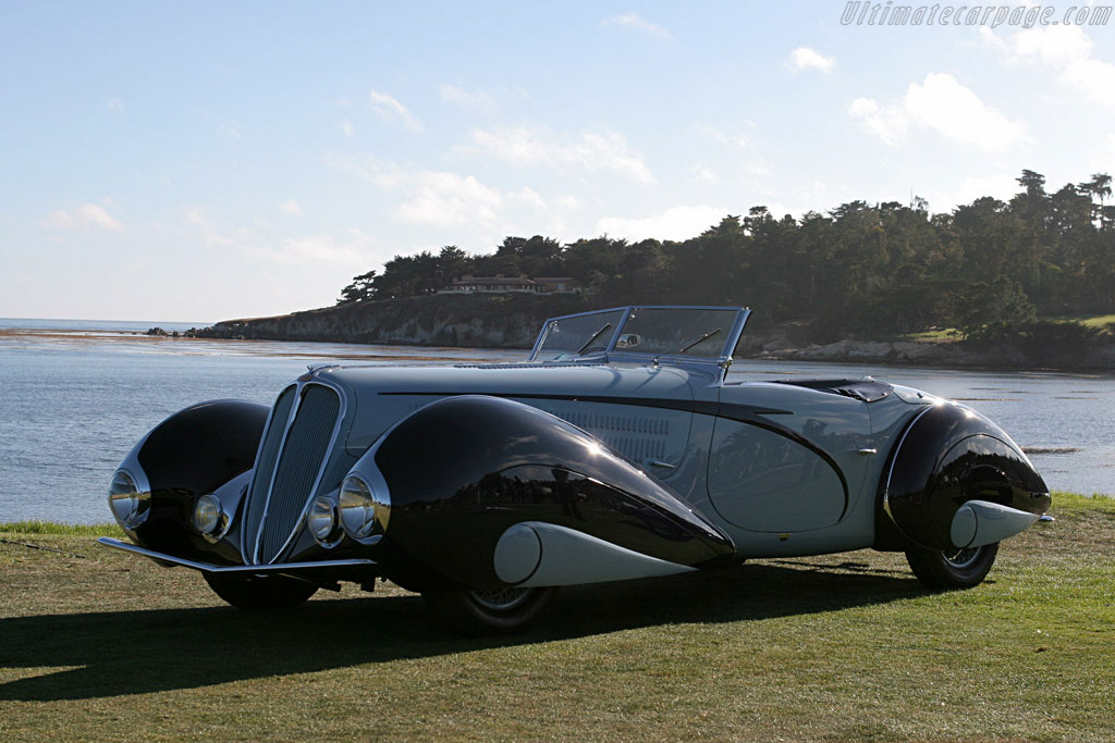 Talbot Lago 135 M Figoni & Falaschi Convertible - Chassis: 49150 - Entrant: Peter & Merle Mullin  - 2007 Pebble Beach Concours d'Elegance