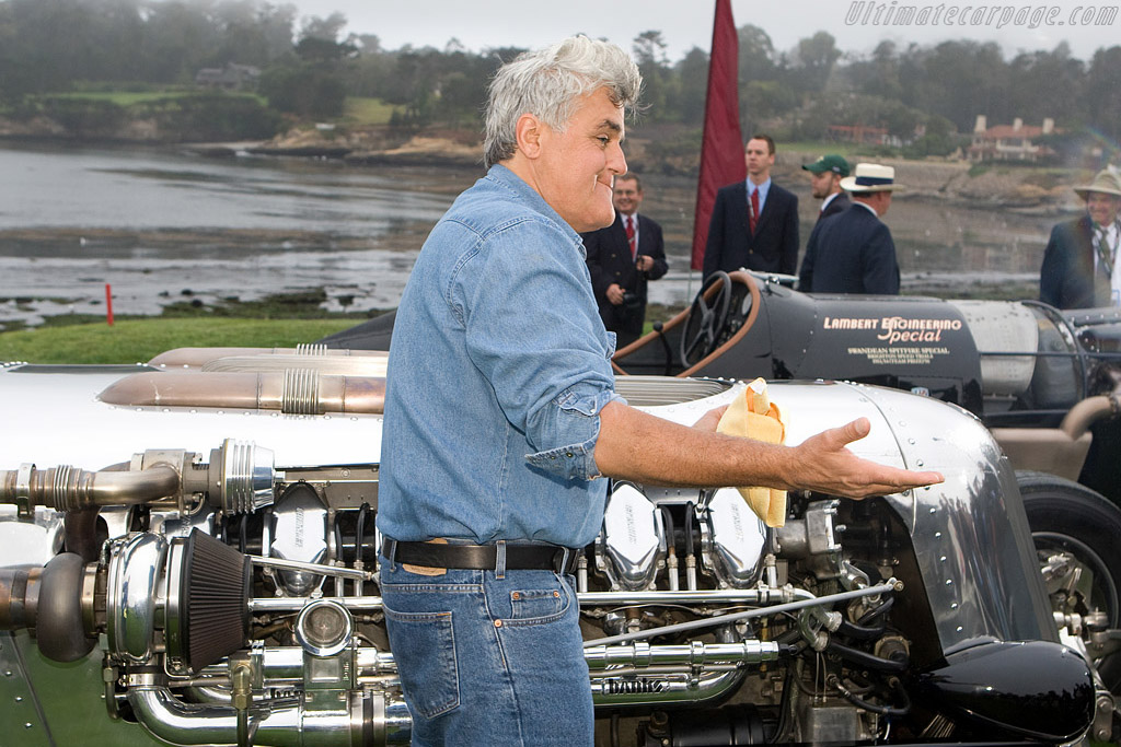 Jay Leno and his Tank car    - 2008 Pebble Beach Concours d'Elegance