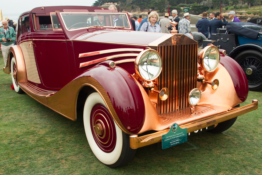 Rolls-Royce Phantom III Freestone & Webb Sedanca de Ville  - Entrant: Don & Janet Williams  - 2017 Pebble Beach Concours d'Elegance