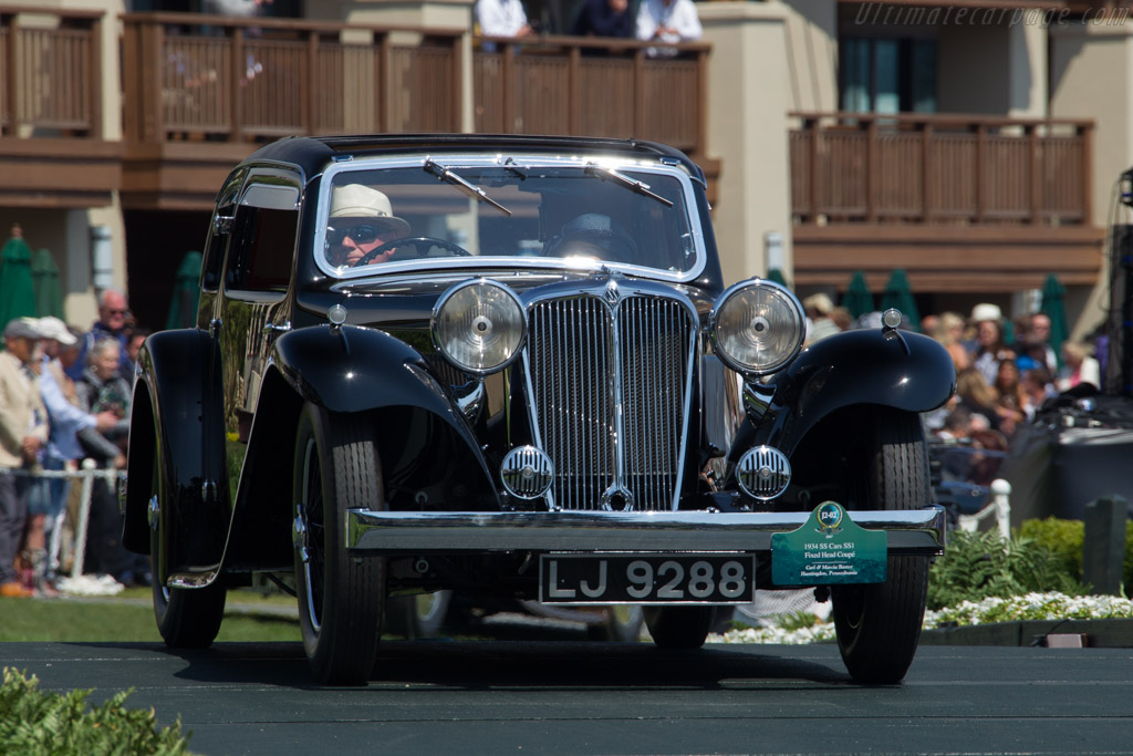 SS 1 Fixed Head Coupe  - Entrant: Carl & Marcia Barker  - 2017 Pebble Beach Concours d'Elegance