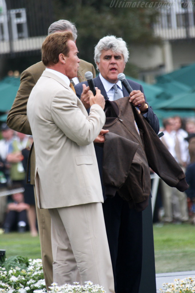 The 'Governator' with Jay Leno    - 2009 Pebble Beach Concours d'Elegance