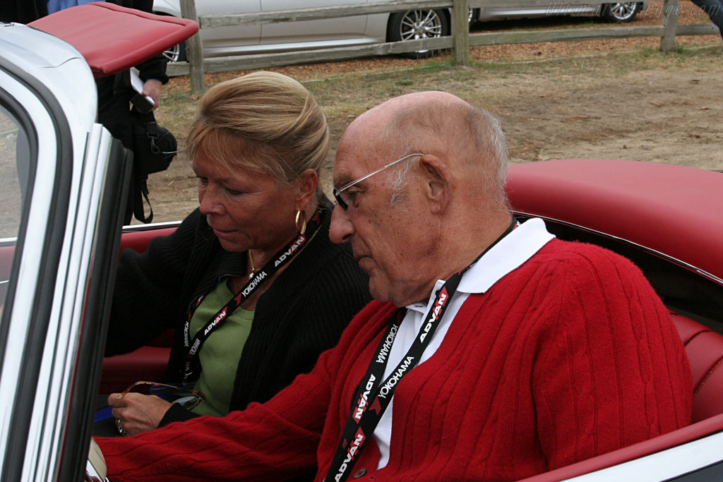 The Mosses looking for their favourite radio station    - 2006 Pebble Beach Concours d'Elegance