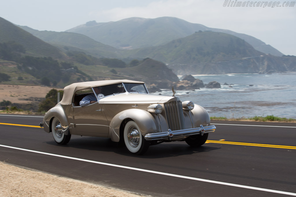 Packard 1703 Super-8 Darrin Convertble Victoria  - Entrant: Leon Flagg and Curtis Lamon  - 2017 Pebble Beach Concours d'Elegance